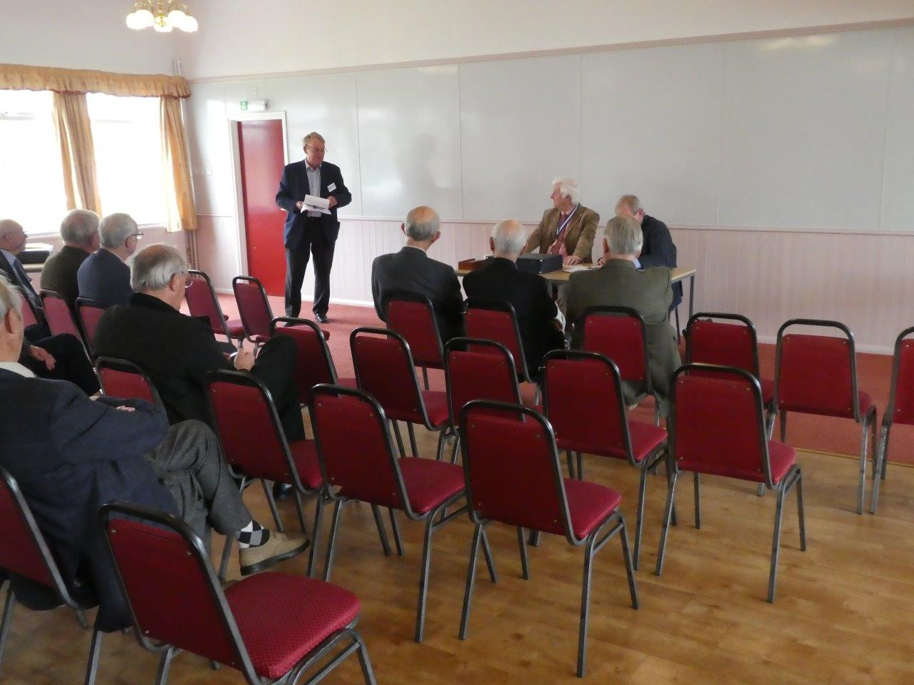 John Colver reviewing the past year's programme