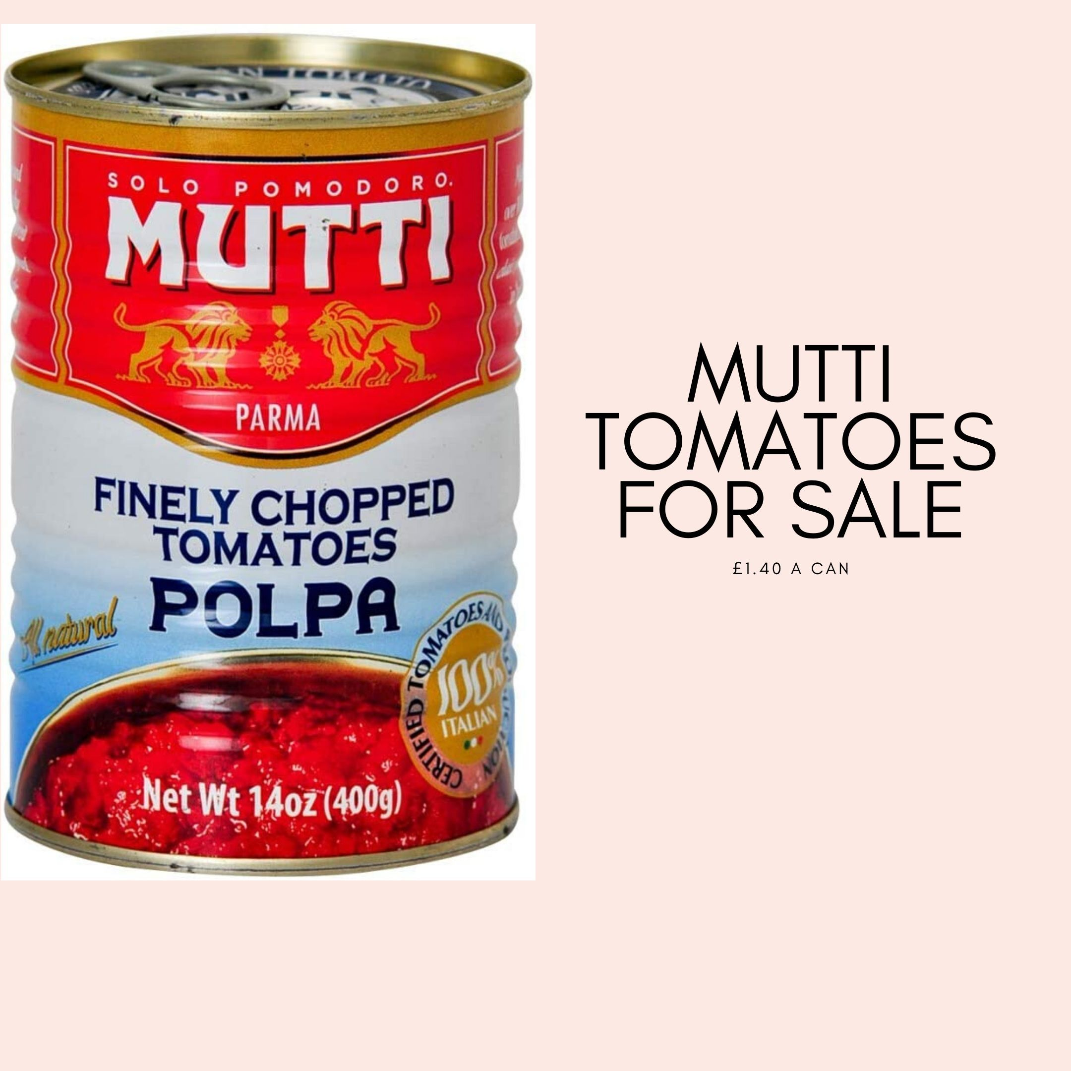 Mutti tomatoes for sale
